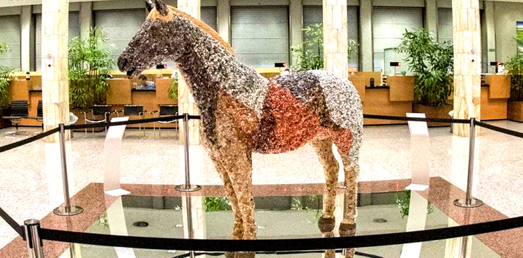 Al Creberg un cavallo di gemme per solidarietà all'Africa migrante